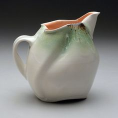 Martha H Grover, thrown and altered porcelain pitcher