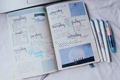 bullet journal spreads | Tumblr
