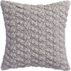 "CB2 Gravel Light Grey 18"" Pillow With Down-Alternative Insert (40 CHF) ❤ liked on Polyvore featuring home, home decor, throw pillows, plush throw pillows, textured throw pillows and cb2"