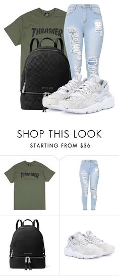 """Untitled #564"" by msfts-rep on Polyvore featuring MICHAEL Michael Kors and NIKE"