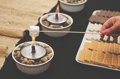 Camping Theme Baby Shower | s'more station