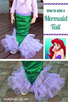 How to sew a Mermaid Tail - great sewing tutorial for the Little Mermaid and Ariel lover