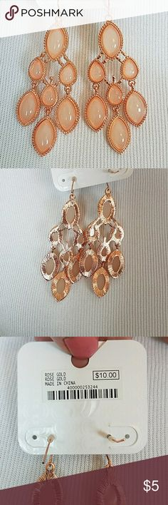 Rose Gold Chandelier Earrings Brand new Charming Charlie Jewelry Earrings