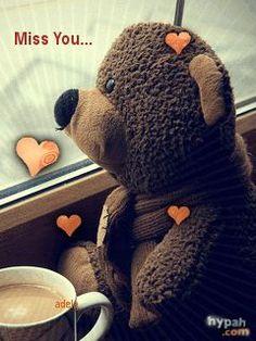 Awwww my teddy bear I miss u too Miss U Love, Cute Miss You, Missing You Love, Miss U Hubby, I Miss You Too, I Miss You Quotes For Him, Missing You Quotes, Miss You Images, Love Images