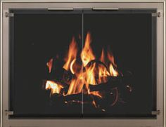 TotalView Glass Fireplace Door
