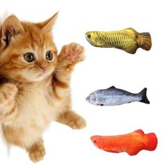 Makwes Cute Fish Shape Canvas Catnip Stuffed Cat Biting Scratch Board Playing Pet Toy,Supplies for Cat Kitty Kitten Pets,Outdoor//Indoor Activity Toys,Pepper Fish Funny Kitty Toy Pillow Pets