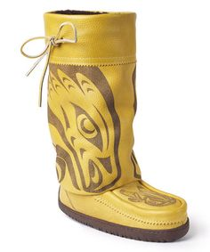 Another great find on #zulily! Tan Mid Louie Gong Gatherer Leather Boot by Manitobah Mukluks #zulilyfinds