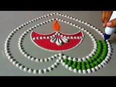 28 ideas simple art prints colour for 2019 Easy Diwali Rangoli, Rangoli Designs Diwali, Rangoli Designs Images, Simple Rangoli, Rangoli Designs Flower, Rangoli Ideas, Colorful Rangoli Designs, Beautiful Rangoli Designs, Gauri Decoration