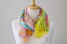 Handmade Scarves, Handmade Gifts, Nuno Felt Scarf, Nuno Felting, Mulberry Silk, Wool Felt, Merino Wool, Trending Outfits, Unique Jewelry