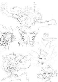 Sketching Naruto Uzumaki Kyuubi/Biju Mode by studioodin.deviantart.com on @DeviantArt