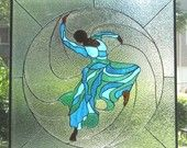 gorgeous... Judith Jamison Stained Glass Panel