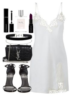 """""""Untitled #2330"""" by theeuropeancloset ❤ liked on Polyvore featuring Stuart Weitzman, Yves Saint Laurent, Miss Selfridge, Smashbox, philosophy and Givenchy"""