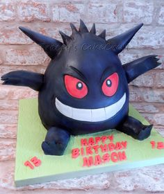 Gengar Pokemon cake