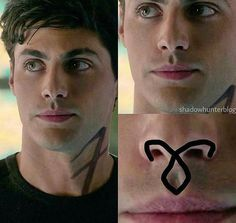 Where's the angelic rune? Malec Shadowhunters, Shadowhunters The Mortal Instruments, Clace, Alec And Jace, Pretty Little Liars, Shadowhunter Academy, Cassandra Clare Books, Memes, Alec Lightwood