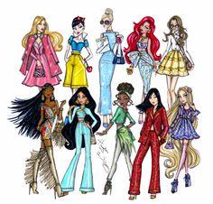 #Hayden Williams Fashion Illustrations #Disney Diva Fashionistas collection by Hayden Williams
