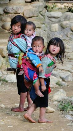 Babies wearing babies
