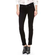 Black skinny jeans.Rank & Style Top Ten Lists | AG Adriano Goldschmied The Stilt Cigarette Jeans #rankandstyle