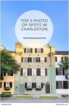 Charleston, South Carolina is a photographer's – & Instagrammer's – dream. Discover the top 5 photo op spots in Charleston. | Charlestonly.com