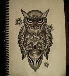 Belagoria: Tatuajes de búhos: significado e ideas originales