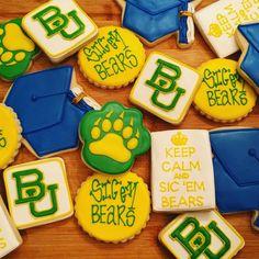 Amazing Baylor graduation cookies!