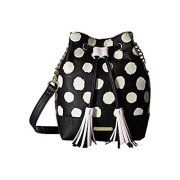 betsey johnson women's drawstring bucket crossbody polka dot crossbody bag Image 1 of 1