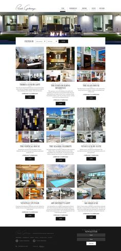 Responsive web design for PrivateGetaways - check out the Stay page where you'll find amazing getaways available. Website includes Editorial style and typography work by www.IsadoraDesign... #websitedesign