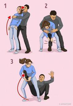 Self defense Cartoon - Self defense Moves Krav Maga - - Survival Skills Self defense Martial Arts - - Survival Life Hacks, Survival Tips, Survival Skills, Outdoor Survival, Techniques D'autodéfense, Self Defense Techniques, Krav Maga Techniques, Martial Arts Techniques, Self Defense Moves