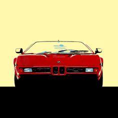 Acrylic paint - Minimalist - BMW M1