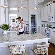 Interesting Ideas Of Tile Kitchen Countertops : Tile Kitchen Countertops Over Laminate