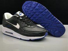 Unisex Nike Air Max 90 Essential White Ultramarine Solar Red 537384 136 Men's Women's Running Shoes NIKE004817
