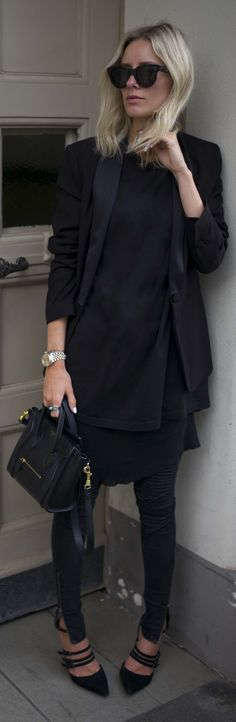 Everything Black Casual Outfit