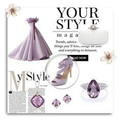 """Violet"" by abecic ❤ liked on Polyvore featuring Lab, Phillip Gavriel, Oscar de la Renta, Kevin Jewelers and Pussycat"