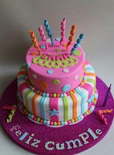 Torta de Cumple colorida!!!