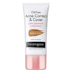 Neutrogena® Oil-Free Acne Correct & Cover Pink Grapefruit Moisturizer Medium to Tan- 1.7 Fl. Oz