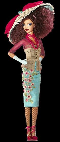 never mind being a doll, check out that outfit! // SUGAR by Byron Lars (African American) Barbie Doll Barbie Dress, Barbie Clothes, Barbie Doll, Barbie Style, Pretty Dolls, Beautiful Dolls, Vintage Barbie, Bjd, Beanie Babies