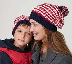 Ravelry: Striped Slouchie Hat pattern by Caron Design Team