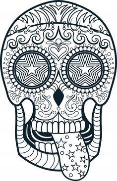 Sugar Skull Coloring Page 3