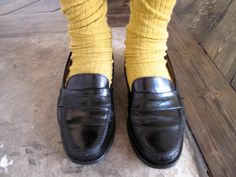 as a young woman, this was my first fashion item Bass Weegen Penny Loafers and you really did put a penny in them and wore knee sox!