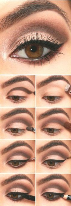16 Easy Step-by-Step Eyeshadow Tutorials for Beginners: #3. Easy Eyeshadow Makeu...#beginners #easy #eyeshadow #makeu #stepbystep #tutorials #HowToDoEyeshadow Simple Eyeshadow Tutorial, Eyeshadow Tutorial For Beginners, Eyeshadow Tutorials, Eyeshadow Ideas, Makeup Tutorials, How To Do Eyeshadow, Makeup Eyeshadow, Easy Eyeshadow, Eyeshadow Basics