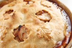 Deep Dish Caramel Apple Pie - Everyone who tries it says it's the best apple pie they've ever had!