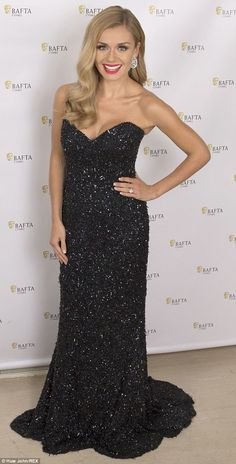Katherine Jenkins turned up without her new husband Andrew Levitas to the BAFTA Cymru Awards, but the was still in high spirits as she dazzled on the red carpet. Beautiful Celebrities, Gorgeous Women, Gorgeous Hair, Beautiful People, Sheer Dress, Strapless Dress Formal, Sexy Dresses, Nice Dresses, Long Dresses