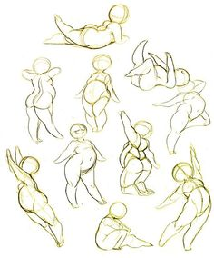 Female gesture pose references