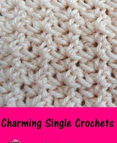 Meladoras Creations |   Charming Single Crochets – Free Crochet Pattern