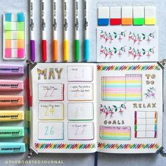 Rainbow Weekly™ ~ comment your favorite color! . . FINALS ARE OVER so yesterday night I took some me time to work on my bujo and this…