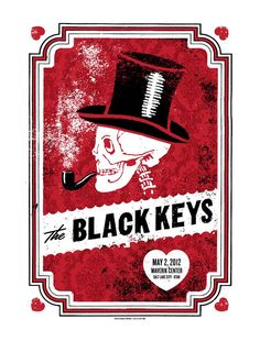 Another Black Keys poster, this time by Lil Tuffy. Simple illustration made wonderful with a bit of the old texture brushes in Photoshop. My only question would be the relevance of the skeleton - nevertheless it looks cool, which is good enough for me.
