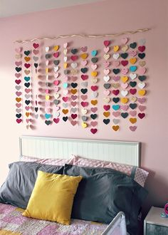 "Sure, you could buy some wall art from Ikea, or hang up photos (both are good options) but you can also make some DIY projects that will instantly give your room a pretty upgrade. DIYing is the way to go – it's cheap and easy, and there is nothing better than getting a compliment on something than saying ""THANKS! I made that!"" So if you're looking for some easy ways to make your room super pretty this fall, check out these easy and fun DIY room projects."