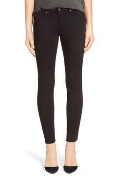 AG 'The Legging' Ankle Super Skinny Jeans (Super Black)