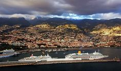 Cruise ships in Funchal harbor