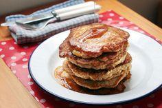 Pancakes Just Serve, Pancakes, Oatmeal, Vegetarian, Cooking, Breakfast, Easy, Recipes, Food