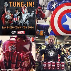 [Coke Code 358] 2014 샌디에고 코믹콘에 어벤져스가 떴다?! 아이언멘, 캡틴 아메리카가 코카-콜라사의 히어로 닥터페퍼와 함께했네요! 소장욕구 가득한 콜렉션★ 생각만해도 든든한 트친님들의 영웅은 누구인가요?